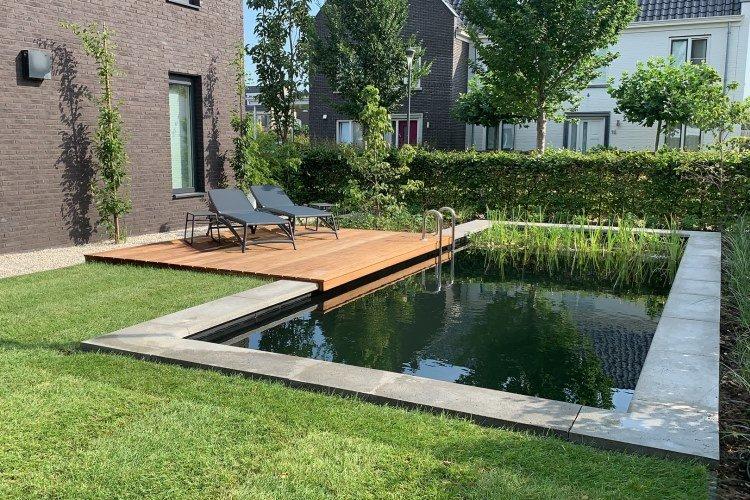 Zwemvijver in Hattem aan laten leggen Vos Tuinvisie