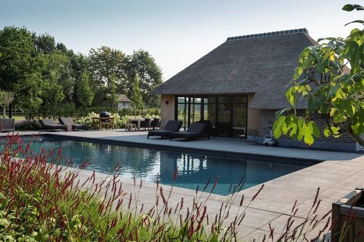 Ontwerp en realisatie landelijke tuin met zwembad in Epe