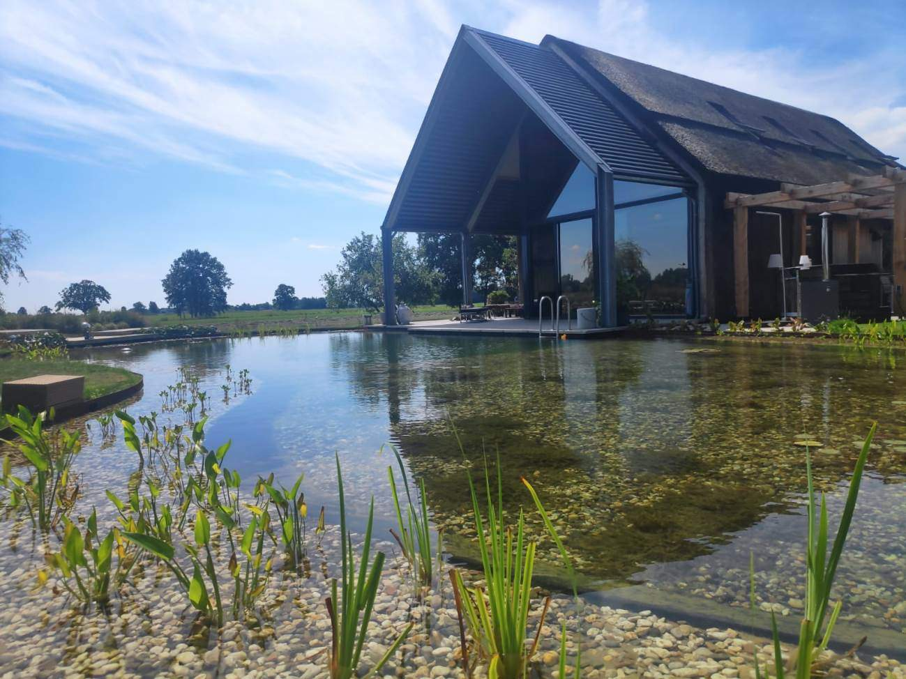 Zwemvijver aanleg Nijbroek