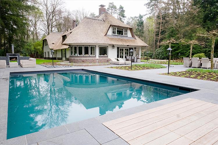 vos tuinvisie bostuin met zwembad