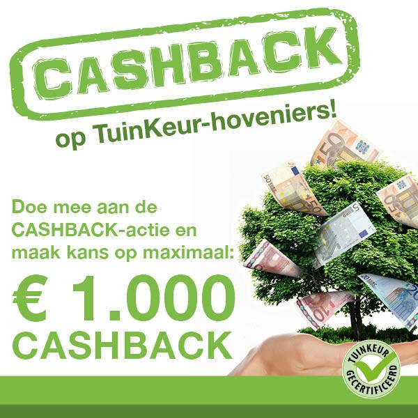 Ook kans maken op € 1.000 cashback