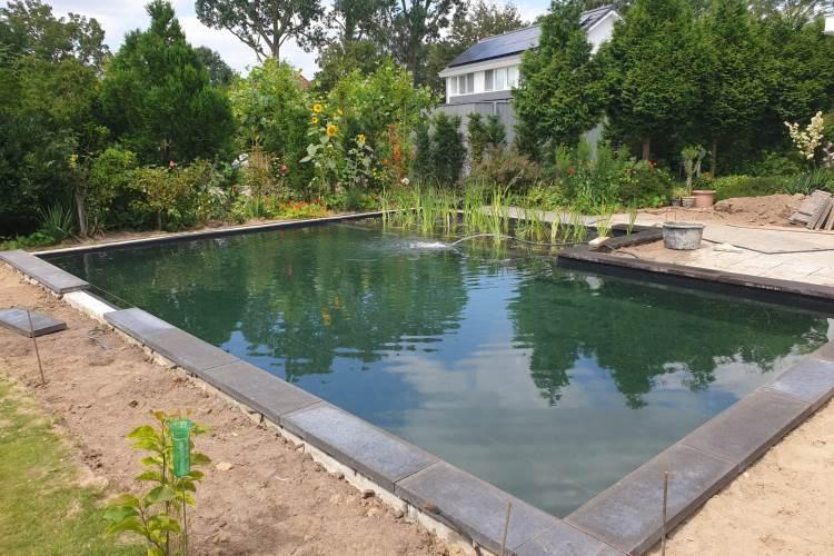 Ombouw gedateerd chloorbad naar natuurlijk gezuiverde zwemvijver